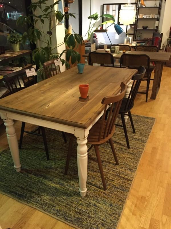 古材ダイニングテーブル